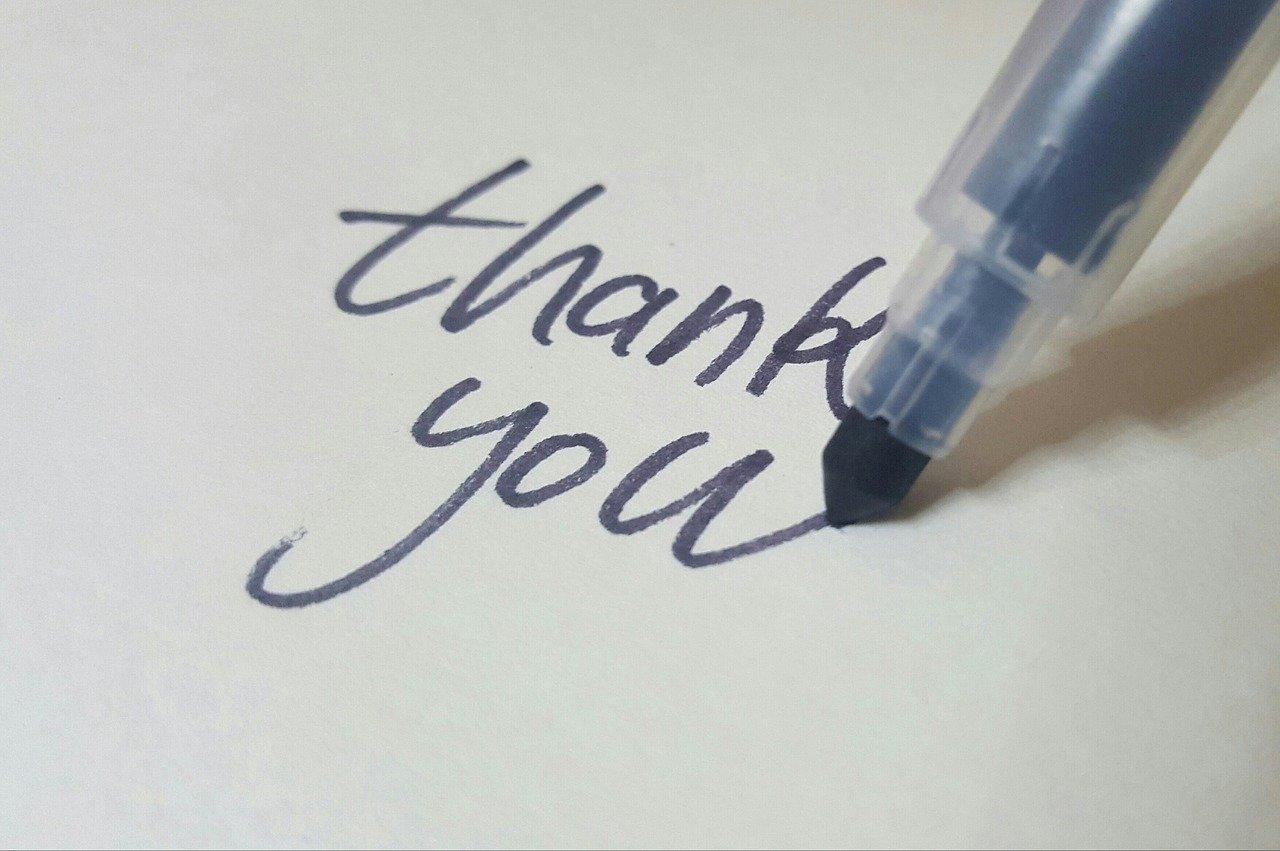 calligraphy, pen, thanks