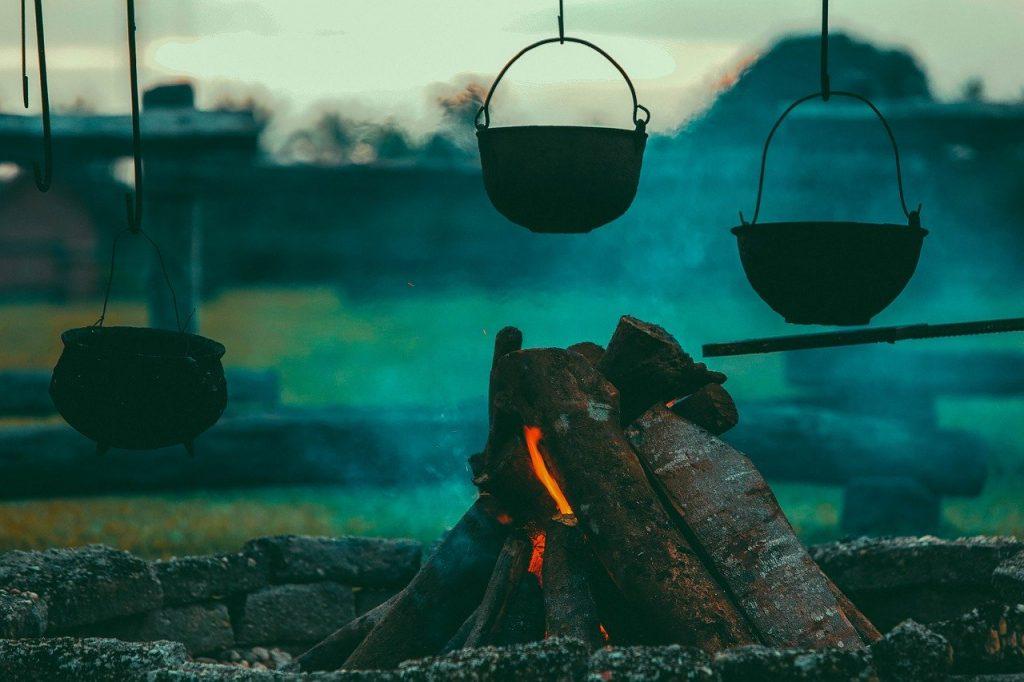 campfire, burning, camping