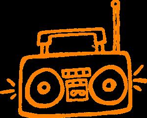 radio, playing, antenna