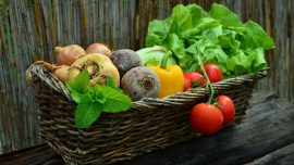 vegetables, vegetable basket, harvest